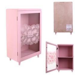 Grossiste rangement décoratif avec étagère rose 24x40x14.5cm