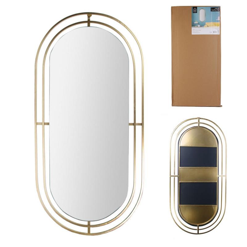 Grossiste miroir métal doré