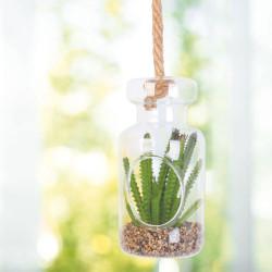 Grossiste plante artificielle dans une suspension en verre