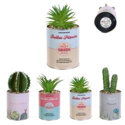 Grossiste plante artificielle cactus dans un pot en métal