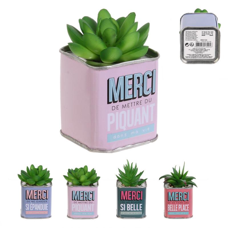 Grossiste plante artificielle pot métal carré merci