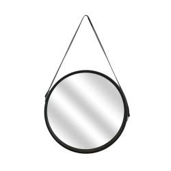 Grossiste miroir rond noir avec anse 40cm