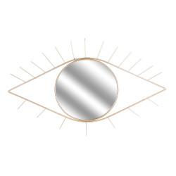 Grossiste miroir en forme d'œil doré 35x55cm