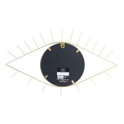 Grossiste miroir en forme d'œil doré 35x55cm dos