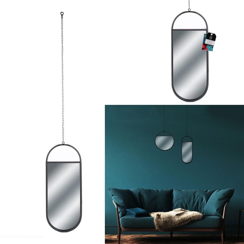Grossiste miroir suspendu ovale 45x18.5cm