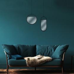 Grossiste miroir suspendu de forme ovale 45x18.5cm