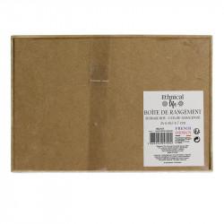 Grossiste boite de rangement en bois avec pompon 24x16x7cm dessous