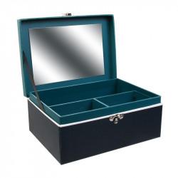 Grossiste boite a bijoux déco avec miroir ouverte