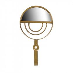 Grossiste patère miroir dorée