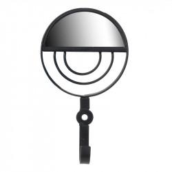 Grossiste patère miroir ronde noire
