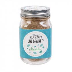 Grossiste graine à planter aromates dans un Mason jar bleu