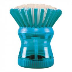 Grossiste et fournisseur. Brosse à vaisselle avec réservoir bleue