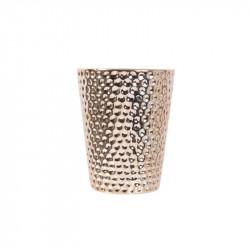 Grossiste bougie vase en céramique martelé en cuivre