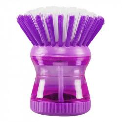Grossiste et fournisseur. Brosse à vaisselle avec réservoir violette