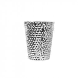 Grossiste bougie vase en céramique martelé en argent