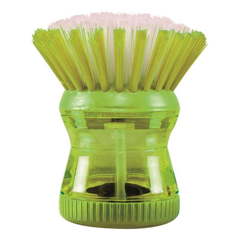 Grossiste et fournisseur. Brosse à vaisselle avec réservoir verte