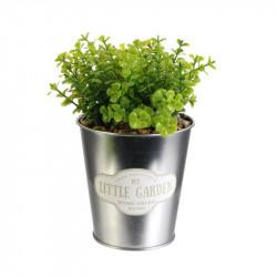 Grossiste plante artificielle pot métal My little market