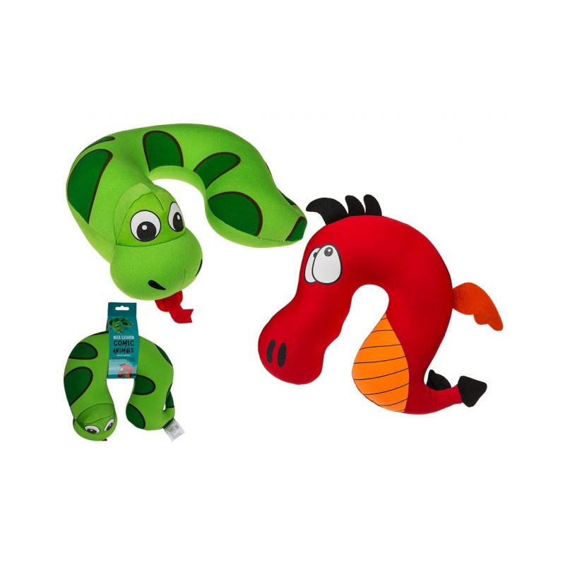 Grossiste coussin cale-nuque microbilles animal