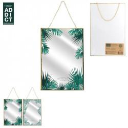 Jungle design hanging mirror