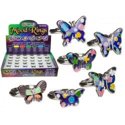 Grossiste bague d'humeur motif papillon
