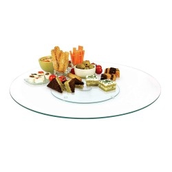 Wholesaler and supplier. Rotating serving plate made of glass