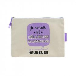 """""""Je suis""""canvas make up pouch"""