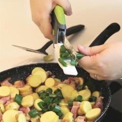 Grossiste et fournisseur. Ciseaux de cuisine 2 en 1 verts