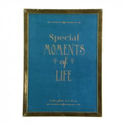 Grossiste cadre photo doré 13x18cm