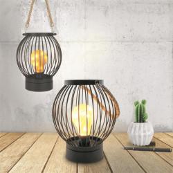 Grossiste lanterne filaire ampoule led bistrot 18x15cm