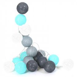 Grossiste guirlande lumineuse bleue et grise - 3m45