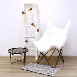 Grossiste guirlande aux boules blanches, ivoire, marron foncé et marron clair 10 LED - 1m75