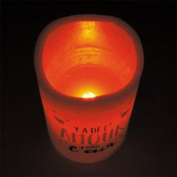 Grossiste bougie LED spécial Saint Valentin 12.5x7.5cm rouge