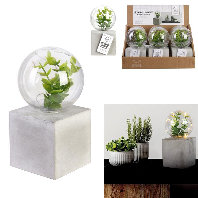 Grossiste décoration lumineuse à poser en forme de plante