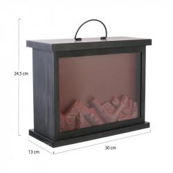Grossiste cheminée décorative LED 30x13x24.5cm