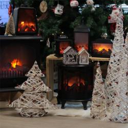 Grossiste cheminée décorative LED 30x13x28cm