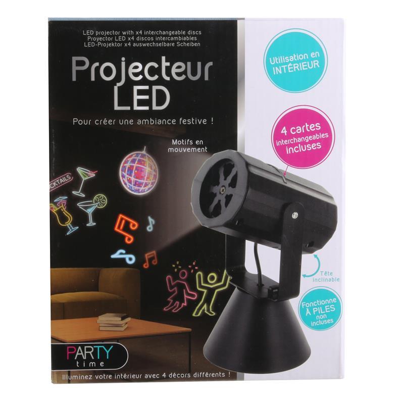Grossiste projecteur LED avec disque interchangeable x4