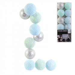 Guirlande boule 10 led bleu...