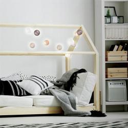 Grossiste guirlande 10 LED aux boules vertes, blanches, taupes et marron - 4x192cm