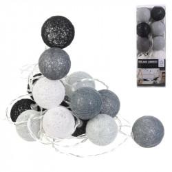 Guirlande boule 20 led gris...