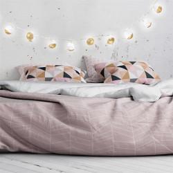 Grossiste guirlande 10 LED aux boules blanches et dorées - 6x192cm