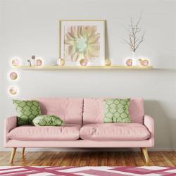 Grossiste guirlande 10 LED aux boules rose et dorées - 6x192cm