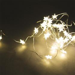 Grossiste guirlande étoile 20 LED avec lumière chaude - 230cm