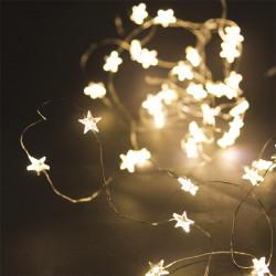 Grossiste guirlande étoile 40 LED avec lumière chaude - 430cm