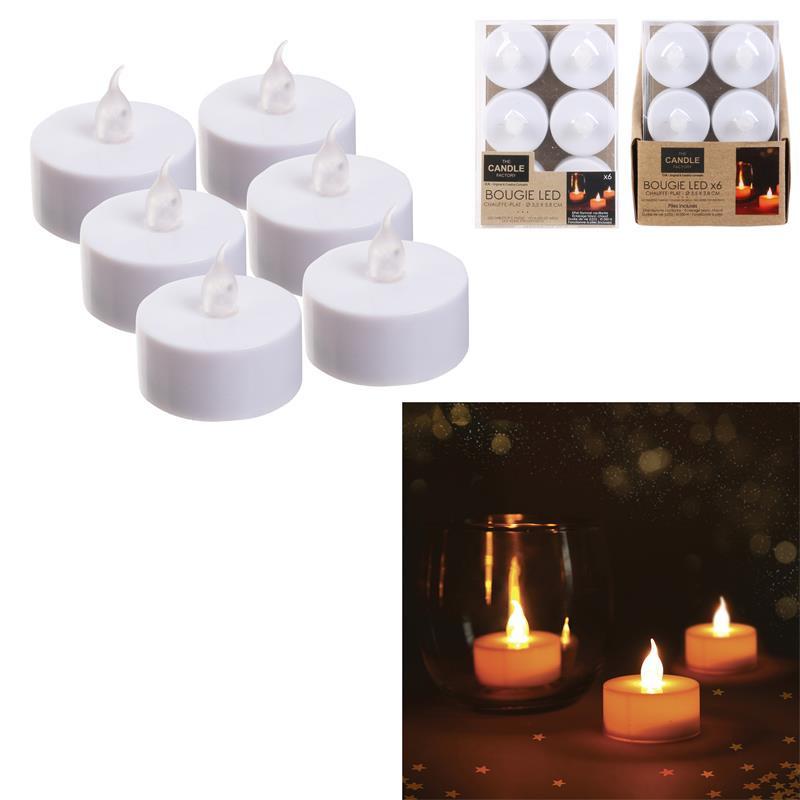 Grossiste bougie LED de table blanche 3.5x3.8cm x6