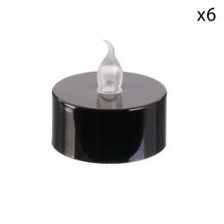 Grossiste bGrossiste bougie LED de table métallique 3.5x3.8cm noire