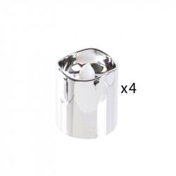Grossiste bougie LED de table métallique 4.2x3.8cm argentée