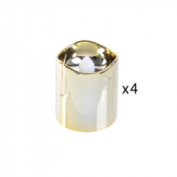 Grossiste bougie LED de table métallique 4.2x3.8cm dorée