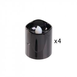 Grossiste bougie LED de table métallique 4.2x3.8cm noire