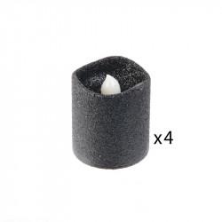 Grossiste bougie LED de table à paillettes 4.2x3.8cm noire