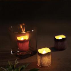 Grossiste bougie LED de table à paillettes 4.2x3.8cm